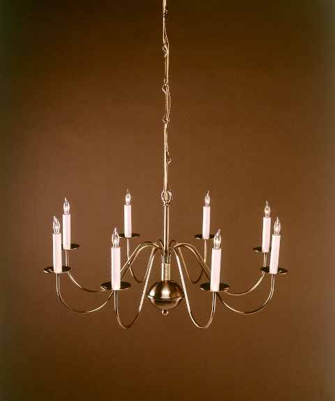 Brass chandeliers period lighting fixtures cape cod antique product name c803 8 aloadofball Choice Image